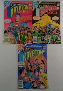 Krypton Chronicles #1 2 3 Superman Complete Series DC 1981