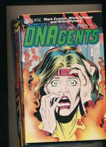 LARGE LOT! 15 Comics-Eclipse Comics DNAgents #3-7,9,11-15,17,20-22 VF+ (PFL#8)