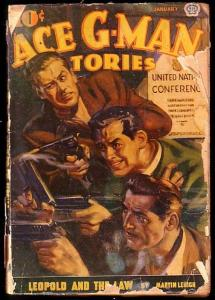 ACE G-MAN STORIES-1944 JAN-GUN FIGHT COVER FR