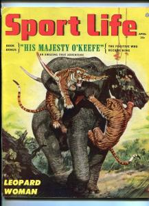 SPORT LIFE #1-APR 1954-TIGERS ATTACK-SOUTHERN STATES PEDIGREE-fn+