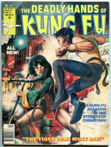 The Deadly Hands of Kung Fu #32 1977-1st Daughters of the Dragon-White Tiger VF-