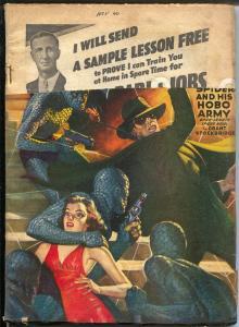 Spider 11/1940-Popular-Hobo Army-violent pulp thrills-dist. return copy-FR/G