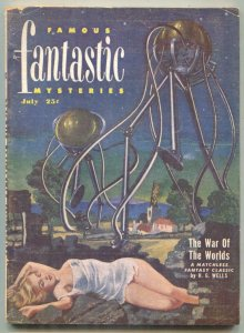 Famous Fantastic Mysteries Pulp July 1951- WAR OF THE WORLDS-