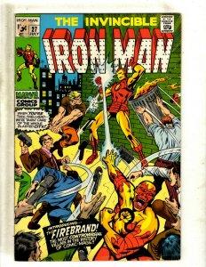 Iron Man # 27 FN Marvel Comic Book Avengers Hulk Thor Captain America J462