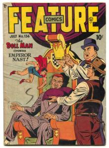 Feature Comics #136 1949- DOLL MAN-  Undertaker VG