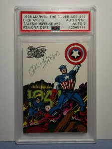 1998 Marvel: The Silver Age #44 Tales/Suspense #63 DICK AYERS AUTO 7 PSA/DNA
