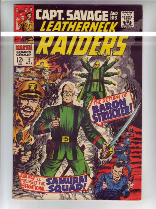 Captain Savage and His Leatherneck Raiders #2 (Mar-68) VF/NM High-Grade Capta...