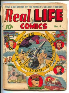 Real Life #9 1943-Nedor--US Coast Guard issue-General Pershing-WWI-WWII-Duke ...