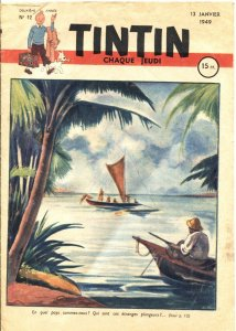 TINTIN #12-JAN 13 1949-ALIX L'INTREPIDE-LECLERC OLDAT DE LEGENDE & MORE