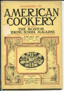 American Cookery 6/1933-working ideas and info-Boston Cooking School-G