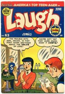 Laugh Comics #63 1954- Archie- Betty - Veronica- incomplete