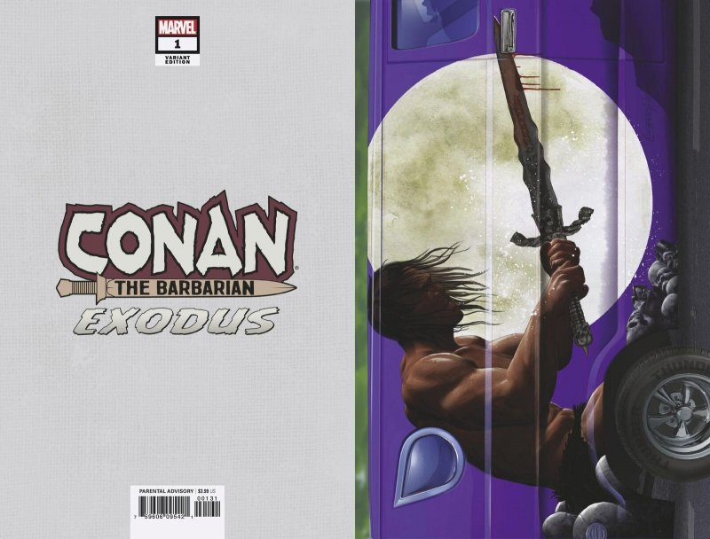 Conan The Barbarian Exodus #1 Horn Van Variant (Marvel, 2019) NM