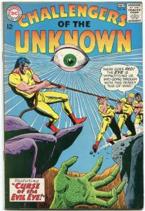 Challengers Of The Unknown #44 1965- Evil Eye cover- DC Silver Age VF