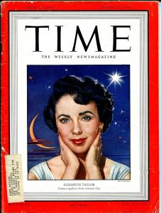 Time 8/22/1949-Liz Taylor cover & story-VG