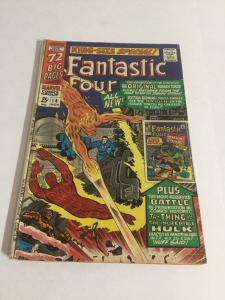 Fantastic Four Annual 4 Gd+ Good+ 2.5 Tape On Spine Marvel Comics Silver Age