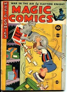 Magic #34 1942-McKay-Mandrake-Clayton Knight-Lone Ranger-Popeye-Blondie-G/VG