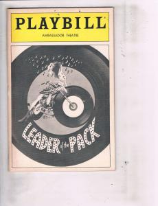 3 Playbills Arms Too Short To Box W Dinah Was Washington Leader Of The Pack J118