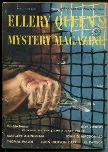 Ellery Queen's Mystery Magazine 4/1954-John D MacDonald-pulp crime & thrills-VG