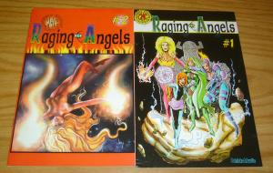 Raging Angels #1-2 FN/VF complete series - classic hippie comics - bad girls set