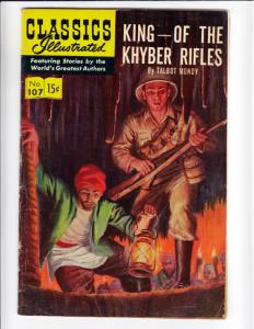 Classics Illustrated #107 (May-53) FN+ Mid-High-Grade King of the Khyber Riffles