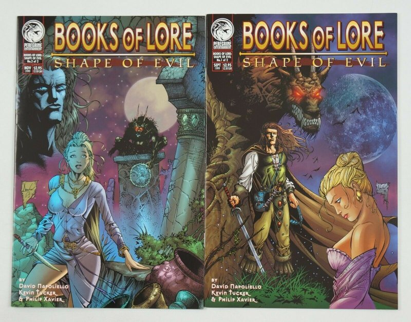 Books of Lore: Shape of Evil #1-2 VF complete series - peregrine comics set lot