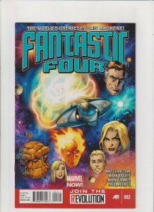 Fantastic Four #2 NM- 9.2 Marvel Comics 2013 Thing,Human Torch Fraction & Bagley