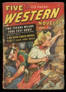 FIVE WESTERN NOVELS #2 PULP APRIL 1948-ATLAS-TIMELY-MAR VG/FN