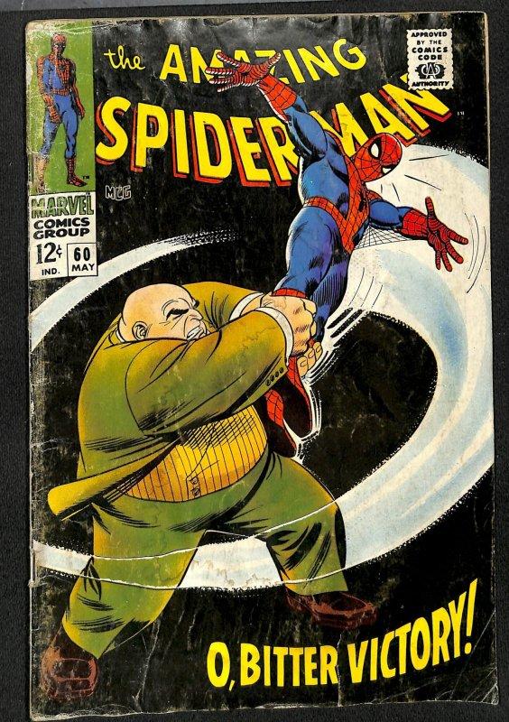 Amazing Spider-Man #60 GD 2.0 Kingpin!