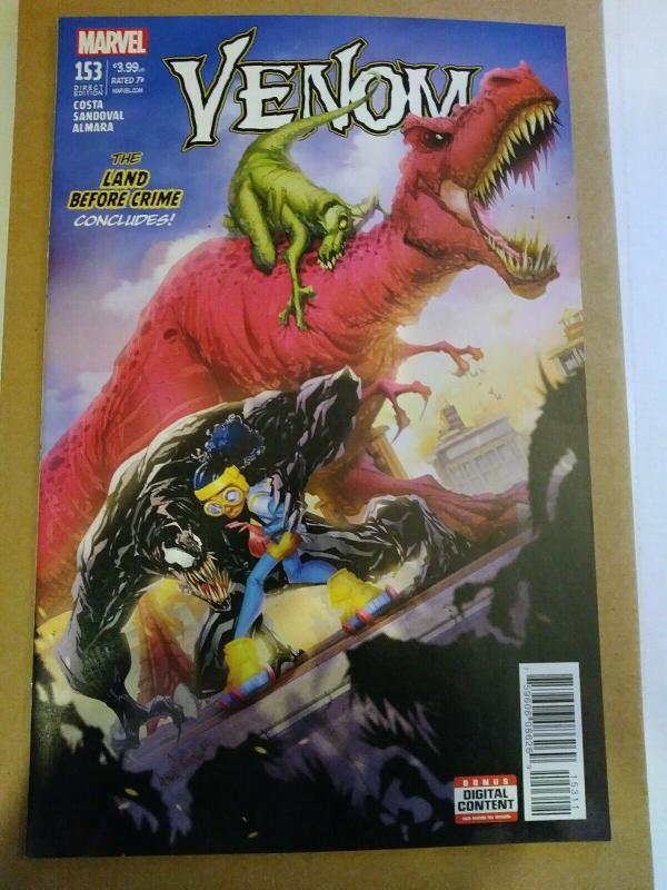 Venom #153 (Marvel Comics 2017) Devil Dinosaur and Moon-Girl Unread Copy