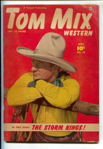 Tom Mix Western #28 1950-Fawcett-Photo cover -Carl Pfeufer story art-VG+