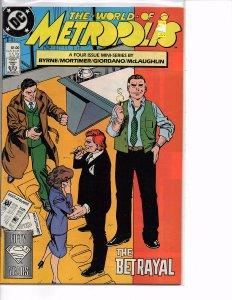 DC Comics Superman The World of Metropolis #1 (1988) Bryne