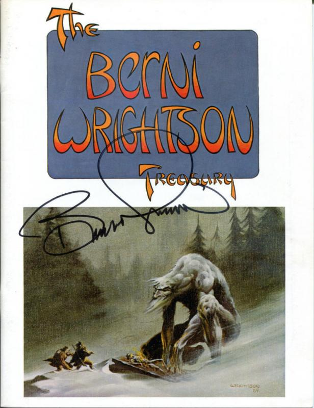BERNI WRIGHTSON TREASURY, VF/NM, Signed Bernie Wrightson, 1st, sc, 1975, Horror