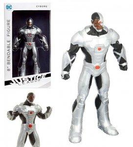 DC Justice League Cyborg 8 Bendable Figure - New!