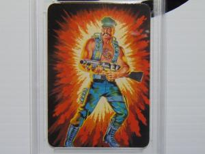 1986 Hasbro G.I. GI Joe Marine Gung-Ho Series #1 Card #10 - Graded NM-MT+ 8.5