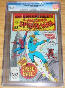 Amazing Spider-Man Annual #22 CGC 9.6 marvel new warriors key - 1ST SPEEDBALL