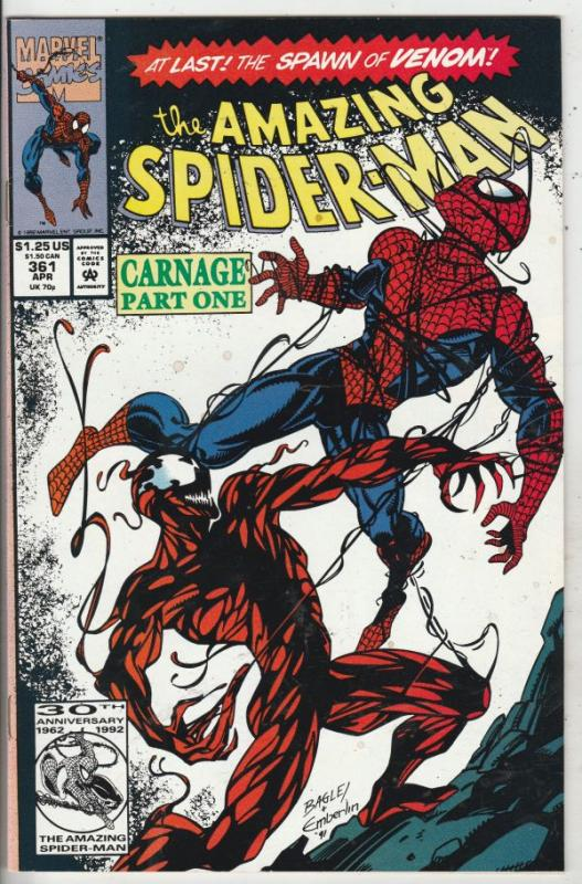Amazing Spider-Man #361 (Apr-92) VF/NM High-Grade Spider-Man