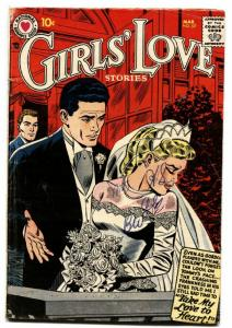 GIRLS LOVE STORIES #53 comic book 1958-ROMANCE-BRIDAL COVER-BRIDE