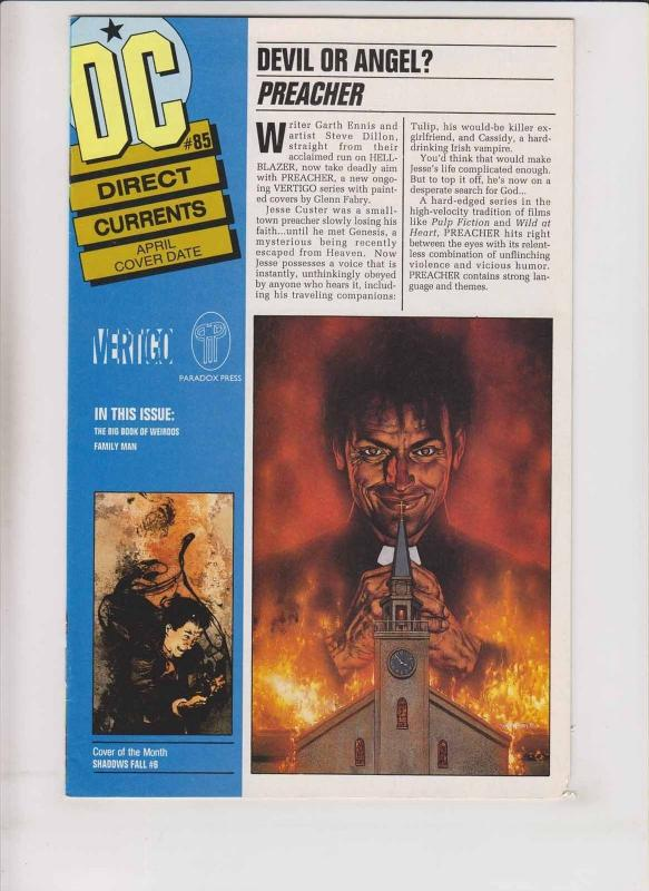 DC Direct Currents #85 promo for preacher #1 by garth ennis - hard to find