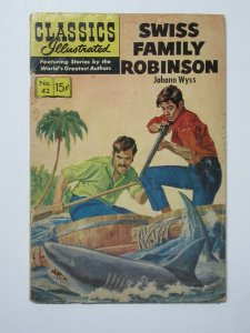 Classics Illustrated- 42 Swiss Family Robinson 10th Ed. HRN 158