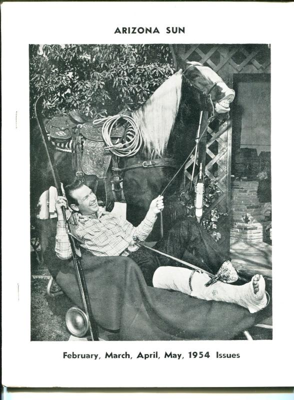 Arizona Sun - Rex Allen Fan Club Magazine February 1954-B-WESTERNS-KOKO-good/vg