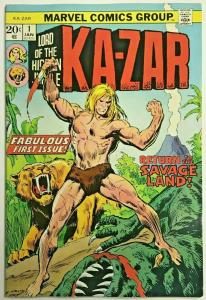KA-ZAR#1 VF 1974 MARVEL BRONZE AGE COMICS
