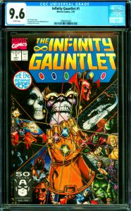 Infinity Gauntlet #1 CGC Graded 9.6 Jim Starlin Story