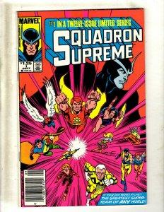 Lot of 10 Squadron Supreme Marvel Comic Books #1 2 3 4 6 7 8 9 10 12 SB3
