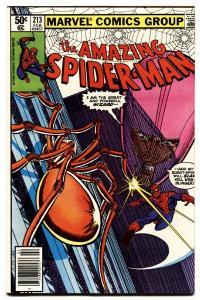 AMAZING SPIDER-MAN #213 comic book-1981-MARVEL