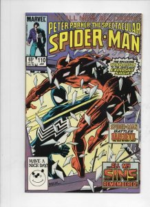 Peter Parker SPECTACULAR SPIDER-MAN #110 VF/NM DareDevil 1976 1985 more in store