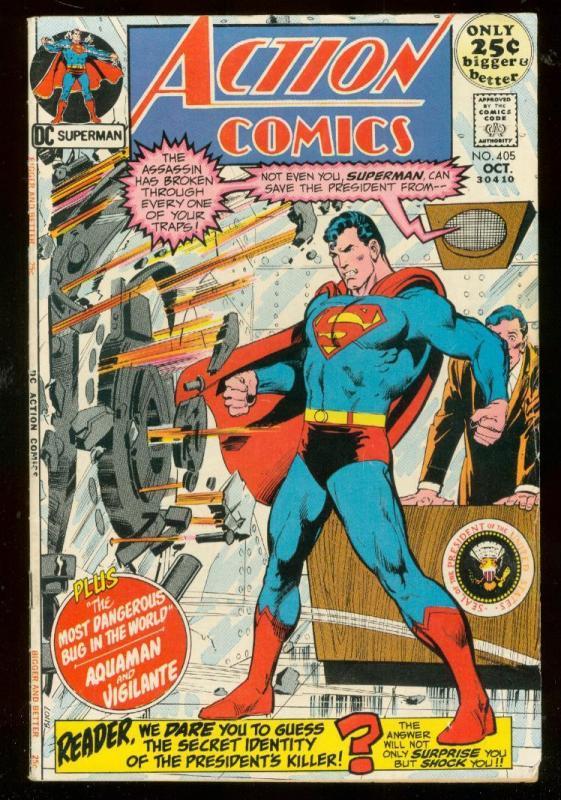 ACTION COMICS #405 1971- SUPERMAN-DC COMICS-ADAMS FN