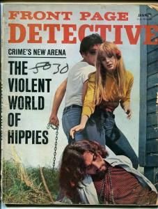 FRONT PAGE DETECTIVE-JAN 1968-G-SPICY-MURDER-RAPE-KIDNAP-MASSACRE-DECAPITATION G