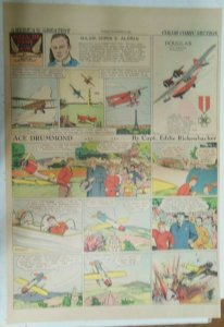 Ace Drummond Sunday by Capt Eddie Rickenbacker from 11/10/1935 Large Full Page !