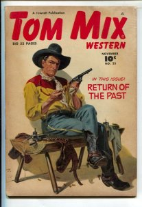 Tom Mix Western #23 1949-Fawcett-Norman Saunders painted cover-Carl Pfeufer s...