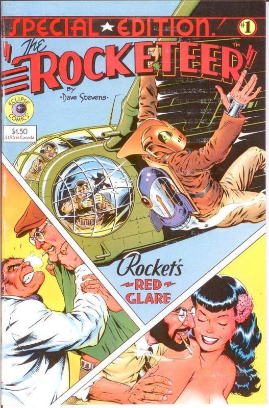 """ROCKETEER SPECIAL EDITION 1984 /""""Bettie Page/"""""""